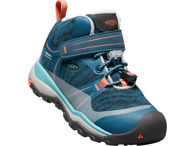 Keen Terradora WP Mid Shoes Kids aqua sea/coral